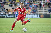 James Jeggo in action during the A League - Wellington Phoenix v Adelaide United at Hutt Recreational Ground, Lower Hutt, New Zealand on Saturday 7 March 2015. <br /> Photo by Masanori Udagawa. <br /> www.photowellington.photoshelter.com.