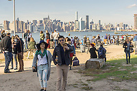 Foodies from around the city flock to Smorgasburg in East River State Park in the Williamsburg neighborhood of Brooklyn in New York on Saturday, October 15, 2016. The marketplace features prepared and artisanal foods made in Brooklyn by small entrepreneurs. (© Richard B. Levine)