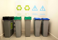 29/02/2012 Recycling facilities at the Standard Life building on St Stephens Green, Dublin. Photo: Gareth Chaney Collins
