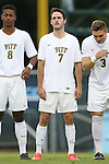 12 September 2014: Pitt's Patrick Dixon (AUS). The University of North Carolina Tar Heels hosted the Pittsburgh University Panthers at Fetzer Field in Chapel Hill, NC in a 2014 NCAA Division I Men's Soccer match. North Carolina won the game 3-0.
