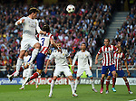 Real Madrid's Gareth Bale in action during todays match  <br /> <br /> Photographer Ian Cook/CameraSport<br /> <br /> Football - UEFA Champions League Final 2014 - Real Madrid v Atletico Madrid - Saturday 24th May 2014 - Stadium of Light - Lisbon - Portugal<br /> <br /> &copy; CameraSport - 43 Linden Ave. Countesthorpe. Leicester. England. LE8 5PG - Tel: +44 (0) 116 277 4147 - admin@camerasport.com - www.camerasport.com
