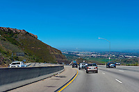CA-101 Freeway, Conejo Grade, Camarillo CA, limited access, divided highway, with, grade separated, junctions, without traffic lights or stop signs,
