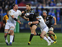 Matt Banahan of Bath Rugby takes on the Leinster Rugby defence. European Rugby Champions Cup match, between Bath Rugby and Leinster Rugby on November 21, 2015 at the Recreation Ground in Bath, England. Photo by: Patrick Khachfe / Onside Images