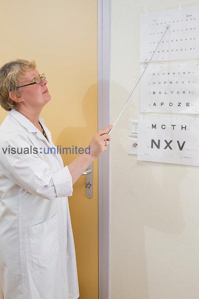 Eye examination, Lille Institut Pasteur, France
