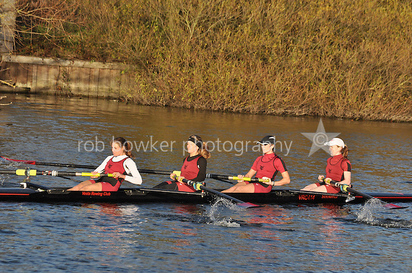 242 .VRC-Goulding .W.SEN.4- .Vesta RC. Wallingford Head of the River. Sunday 27 November 2011. 4250 metres upstream on the Thames from Moulsford railway bridge to Oxford University's Fleming Boathouse in Wallingford. Event run by Wallingford Rowing Club.