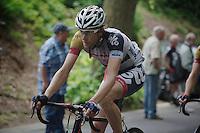 Jurgen Van de Walle (BEL) up the Tiegemberg<br /> <br /> Halle - Ingooigem 2013<br /> 197km