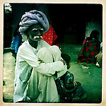Old Rabari man at his home