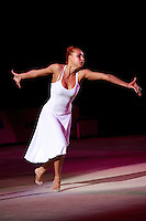 "Natalya Godunko of Ukraine performs gala exhibition at 2008 World Cup Kiev, ""Deriugina Cup"" in Kiev, Ukraine on March 23, 2008."