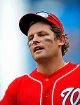 24 May 2009: Washington Nationals' right fielder Austin Kearns returns to the dugout after making a third out against the Baltimore Orioles at Nationals Park in Washington, DC. The Nationals rallied to defeat the Orioles 8-5 and salvage one win of their interleague series. Mandatory Credit: Ed Wolfstein Photo