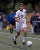 Boston College forward Victoria DiMartino (1) dribbles down the wing. Boston College defeated North Carolina State,1-0, on Newton Campus Field, on October 23, 2011.