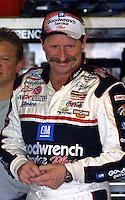 Dale Earnhardt is shown during practice for the Daytona 500, Daytona International Speedway, Daytona Beach, FL, February, 2001.  (Photo by Brian Cleary/www.bcpix.com)