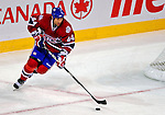 3 February 2009: Montreal Canadiens' defenseman Roman Hamrlik from the Czech Republic starts a rush in the second period against the Pittsburgh Penguins at the Bell Centre in Montreal, Quebec, Canada. The Canadiens defeated the Penguins 4-2. ***** Editorial Sales Only ***** Mandatory Photo Credit: Ed Wolfstein Photo