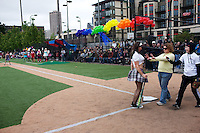 Drag Queen Softball. Seattle, Washington...Dykes Vs. Drag Queens Softball, Seattle, Washington.