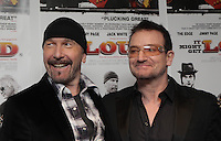 07/01/2010 .The Edge & Bono at the Irish Charity Premiere of 'It Might Get Loud' guitar documentary at the IFI, Temple Bar, Dublin. Proceeds of the premier go to Our Lady's Children Hospital, Crumlin. The film opens to the public on Friday 8th Jan exclusively at the IFI..Photo: Gareth Chaney Collins.