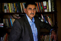 Dr. Ajai Sahni, a terrorism expert and the Executive Director of the Institute for Conflict Management, in his office in New Delhi, days after the recent terrorist attack on some of Mumbai's most known landmarks, on 30th November 2008.  Photo by Suzanne Lee