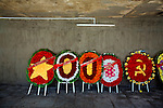 Memorial flowers sit below Hang Duong Cemetery on Con Son Island, part of the Con Dao Islands.The 16 mountainous islands and islets are situated about 143 miles southeast of Ho Chi Minh City in Vietnam, in the South China. Photo taken Thursday, May 5, 2010...Kevin German / LUCEO For the New York Times