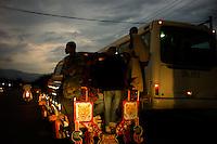 Port Au Prince, Haiti, April 10, 2010.On the road from Cité Soleil to Port au Prince at sunset..