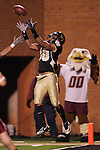 4 November 2006: Wake Forest's Patrick Ghee (30) waits for the Boston College pass, intercepting it in the end zone late in the fourth quarter to seal the Wake Forest win. Wake Forest defeated Boston College 21-14 at Groves Stadium in Winston-Salem, North Carolina in an Atlantic Coast Conference college football game.