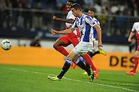 VOETBAL: HEERENVEEN: Abe Lenstra stadion 30-08-2014, SC Heerenveen - FC Utrecht uitslag 3-1, Mark Uth scoorde drie doelpunten, ©foto Martin de Jong