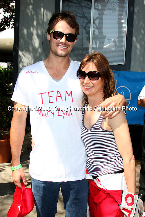 Matthew Rolph & Mary Lynn Rajskub  at the  Toyota Pro/Celeb Race Day on April 18 ,2009 at the Long Beach Grand Prix course in Long Beach, California..©2009 Kathy Hutchins / Hutchins Photo....                .