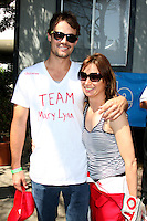 Matthew Rolph &amp; Mary Lynn Rajskub  at the  Toyota Pro/Celeb Race Day on April 18 ,2009 at the Long Beach Grand Prix course in Long Beach, California..&copy;2009 Kathy Hutchins / Hutchins Photo....                .