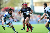 Schalk Brits of Saracens goes on the attack. European Rugby Champions Cup Quarter Final, between Saracens and Glasgow Warriors on April 2, 2017 at Allianz Park in London, England. Photo by: Patrick Khachfe / JMP