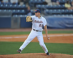 Ole Miss' Matt Crouse (20)  pitches at Oxford-University Stadium in Oxford, Miss. on Friday, April 15, 2011. Ole Miss won 3-2.