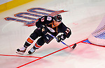 24 January 2009: Edmonton Oilers' center Andrew Cogliano wins the fastest skater challenge with a time of 14.31 in the NHL SuperSkills Competition, part of the All-Star Weekend at the Bell Centre in Montreal, Quebec, Canada. ***** Editorial Sales Only ***** Mandatory Photo Credit: Ed Wolfstein Photo