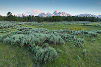 Cathedral Group at dawn in Grand Teton National Park