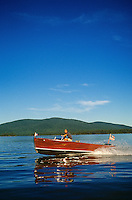 man going for a boat ride on a beautiful lake in New Hampshire