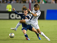 CARSON, CA - September 1, 2012:  Vancouver midfielder Russell Teibert (31) and LA Galaxy defender Sean Franklin during the LA Galaxy vs the Vancouver Whitecaps FC at the Home Depot Center in Carson, California. Final score LA Galaxy 1, Vancouver Whitecaps FC 0.