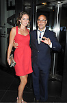 "Stanley Tucci and new wife Felicity Blunt  attends the New York Premiere of ""Cosmopolis"" on .August 13, 2012 at MoMA in New York City. The premiere was presented by Gucci and The Peggy Siegal Company. .The stars of the movie are Robert Pattinson, Paul Giamatti, Sarah Gadon, Kevin  Durand and Emily Hampshire."