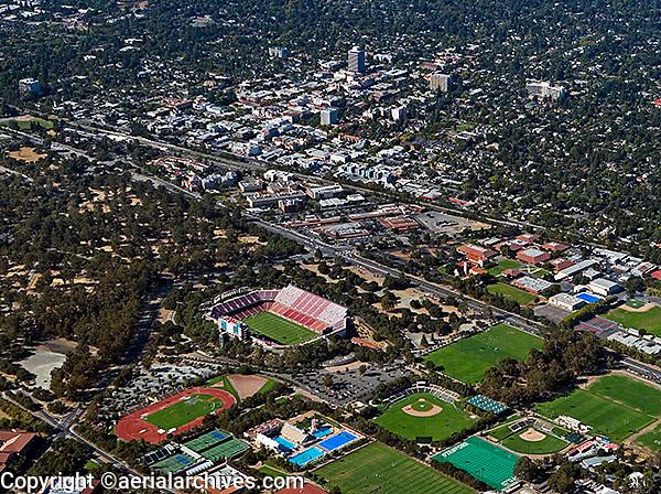 aerial photograph Stanford University Palo Alto