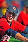 9 March 2009: Houston Astros' catcher Jason Castro stretches out prior to a Spring Training game against the Washington Nationals at Space Coast Stadium in Viera, Florida. The Nationals defeated the Astros 8-6 in extra innings of the Grapefruit League matchup. Mandatory Photo Credit: Ed Wolfstein Photo