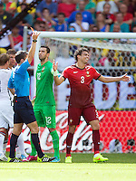 Pepe of Portugal is sent off with a red card