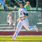 5 September 2016: Vermont Lake Monster outfielder Tyler Ramirez comes home to score against the Lowell Spinners at Centennial Field in Burlington, Vermont. The Lake Monsters defeated the Spinners 9-5 to close out their 2016 NY Penn League season. Mandatory Credit: Ed Wolfstein Photo *** RAW (NEF) Image File Available ***