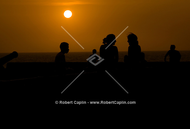 Sunset in Cartagena, Colombia...Photo by Robert Caplin.