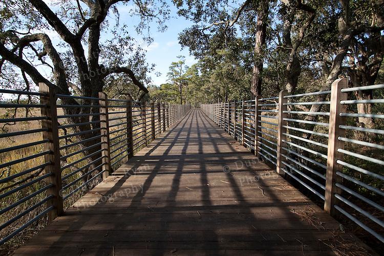 Charles Towne Landing Charleston South Carolina wooden, dock, pathway, marsh, grass