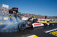 Mar 18, 2017; Gainesville , FL, USA; NHRA top fuel driver Steve Torrence during qualifying for the Gatornationals at Gainesville Raceway. Mandatory Credit: Mark J. Rebilas-USA TODAY Sports