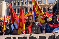 Roma, 19 Marzo 2015<br /> Manifestazione  contro i  tagli al sociale e privatizzazioni nel bilancio comunale<br /> Il corteo organizzato dalla Rete per il Diritto alla Citt&agrave;, dal Forum dell'Acqua, dai sindacati di base Usb e Usi contro i tagli e le privatizzazioni nel bilancio comunale  della Giunta Marino.<br /> Rome, March 19, 2015<br /> Demonstration against the cuts to social and privatization in the municipal budget<br /> The march organized by the Network for the Right to the City, the Water Forum, the base unions Usb and Uses against cuts and privatization in the municipal budget  of the Executive  the mayor Ignazio Marino.
