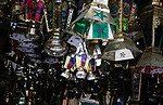 """Traditional lanterns  known as """"Fanous"""" in Arabic, are seen at a market ahead of the Muslim holy month of Ramadan in Cairo, Egypt, on May 21, 2017. Photo by Amr Sayed"""