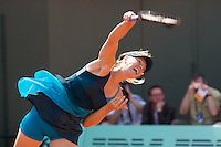 Maria Sharapova (RUS) against Anastasiya Yakimova (BLR) in the frst round of the Women's Singles. Sharapova beat Yakimova 3-6 6-1 6-2 ..Tennis - French Open - Day 2 - Mon 25th May 2009 - Roland Garros - Paris - France.Frey Images, Barry House, 20-22 Worple Road, London, SW19 4DH.Tel - +44 20 8947 0100.Cell - +44 7843 383 012