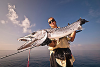 Portraits of fishermen with Barracudas and Wahoos