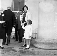 Princess Grace and Prince Rainier of Monaco, with their children Caroline and Albert, visit President Eamon de Valera and his wife Sinead at Áras an Uachtarain..14.06.1961