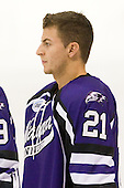 Giancarlo Iuorio (Niagara - 21) - The visiting Niagara University Purple Eagles defeated the Northeastern University Huskies 4-1 on Friday, November 5, 2010, at Matthews Arena in Boston, Massachusetts.