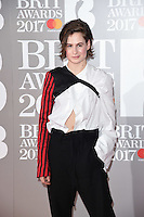 Helloise Lessiter at the 2017 Brit Awards at the O2 Arena in London, UK. <br /> 22 February  2017<br /> Picture: Steve Vas/Featureflash/SilverHub 0208 004 5359 sales@silverhubmedia.com