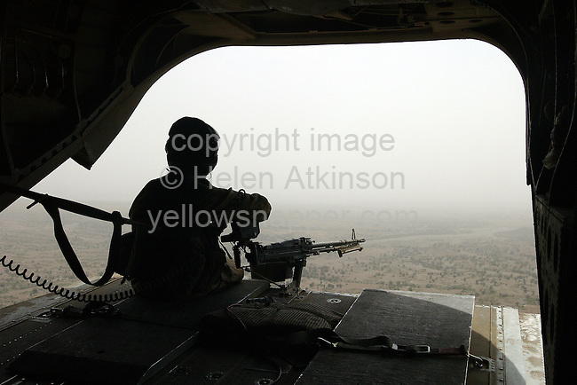 REAR VIEW FROM CHINOOK, AFGHANISTAN...PICTURE: HELEN ATKINSON