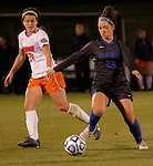 Freshman Forward Cara Ledman passes the ball during the University of Kentucky vs UT-Martin soccer game in the first round of the NCAA Soccer Tournament in Lexington, Ky., on, 11 11/9/2012, {year}. Photo by Jared Glover | Staff