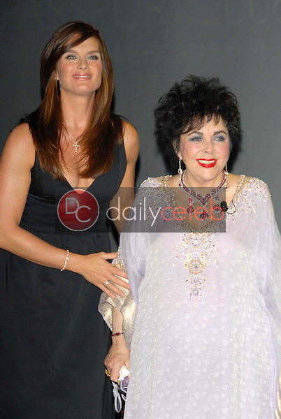 Brooke Shields and Elizabeth Taylor<br />