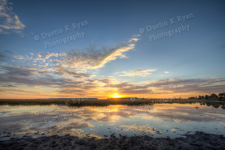 Sable on the Marsh townhomes folly beach south carolina james island project condos homes pictures architecture photography Sunrise Marsh Scene lowcountry hdr